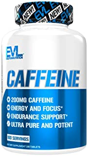 Evlution Nutrition Caffeine, 200 mg of Caffeine Per Serving (100 Servings)