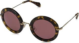 Miu Miu Women's Round Glitter Sunglasses