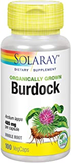 Solaray Organically Grown Burdock Root 485 mg | Healthy Liver, Kidney, Digestion, Circulation, Joint & Skin Support | Non-...