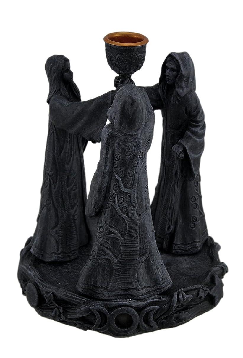 樹脂Incense Holders Maiden母Crone Cone Incense Burner Paganウィッカ5.5?X 7?X 5.5インチ海軍モデル# 2740