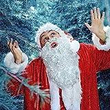 Natee - Barba de Papá Noel, Navidad, Halloween, color blanco
