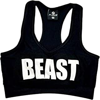 "FlexzFitness Women's ""Beast"" Sports Bra for Fitness, Kickboxing, Bodybuilding, Running, Working Out, and Exercise"