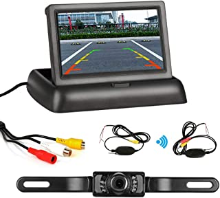 $39 » HD Wireless Backup Camera System 4.3'' 1080P Rear View Camera IP68 Waterproof Rear View Camera Night Vision Guide Lines Co...