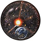 Blue Sky Puzzles 1000 Piece Round Space Jigsaw Puzzle for Adults - The Universe - Celestial View of The Earth, Moon, Planets, Solar System, Stars and Galaxy - Large 26.6 Inch Circular Puzzle