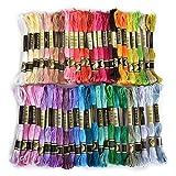 Hommy刺繍糸 50色 8m セット クロスステッチ カラーが豊富できれい 刺しゅう糸