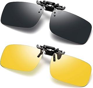 نظارات شمسية بولاريزد بمشبك للقيادة المضادة للوهج للنظارات الطبية
