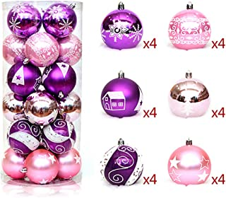Best purple and pink christmas tree decorations Reviews