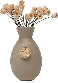 Acqua Aroma Earth Colors Collection Tulips Pottery Diffuser (Gray)