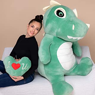 YESBEARS 5 Foot Giant T-Rex Plush, Dinosaur Plush Toy, Gifts for Kids (Pillow Included)