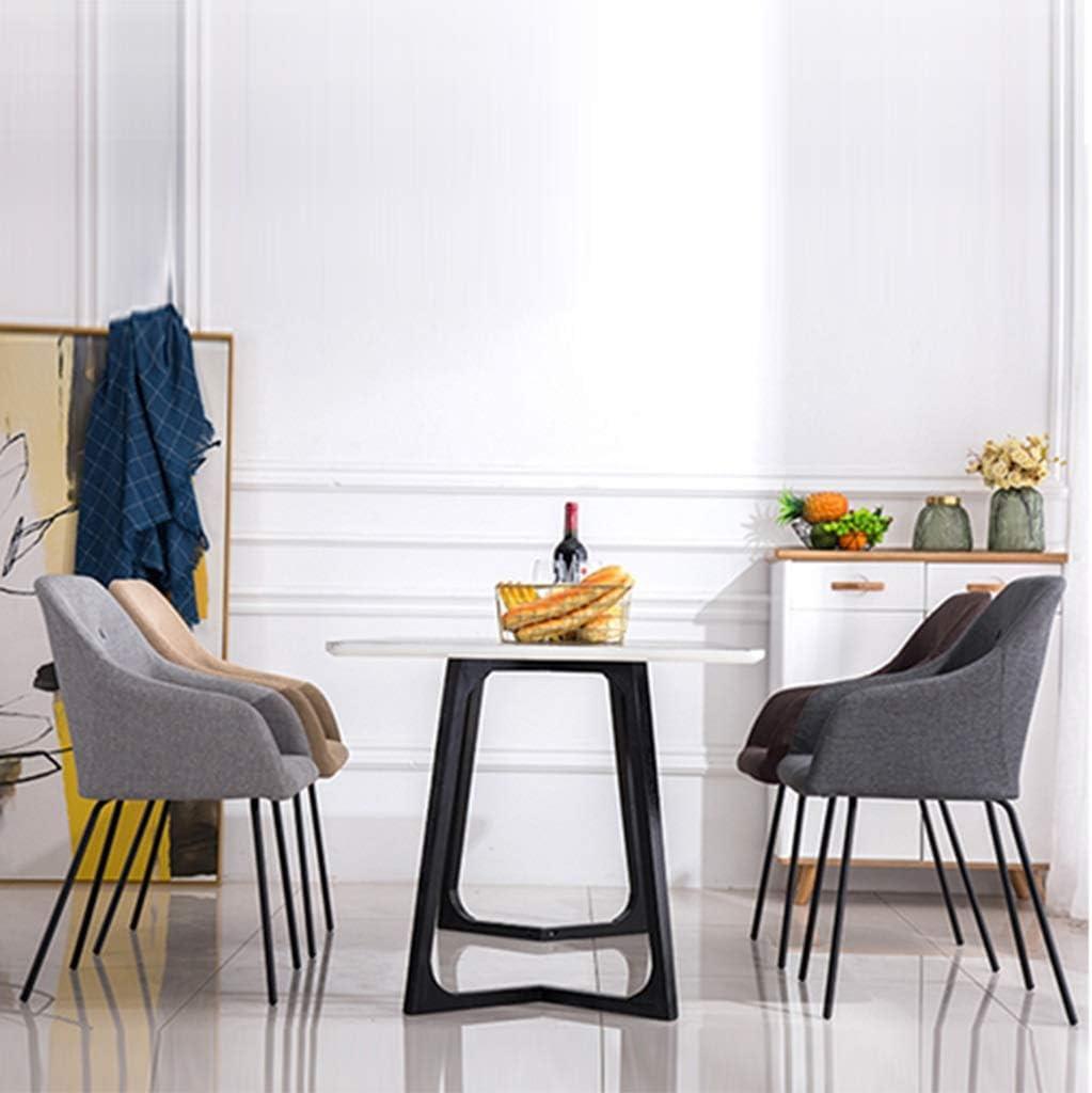 Chaises de Cuisine,Chambre Salon Maquillage Nail art Loisir Utilisation a La Maison Balcon Chaise de Bureau (Color : Brown) Coffee