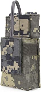 Aoutacc Molle Short Radio Pouch, Nylon Molle Tactical Radio Holder Case for BaoFeng UV-5R UV82