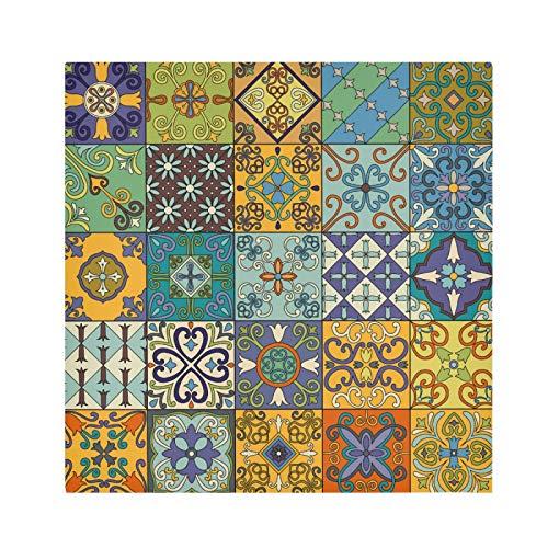 xigua Paquete de 4 servilletas de tela para mesa de cena, servilleta decorativa de 50,8 cm, lavables para interior/exterior, fiesta, restaurante, uso diario, azulejos de cerámica Talavera mexicana