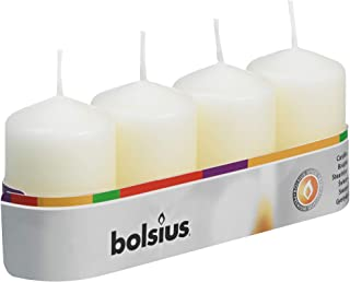 Bolsius Pillar Candles (60/40mm), Ivory (10x Tray of 4)