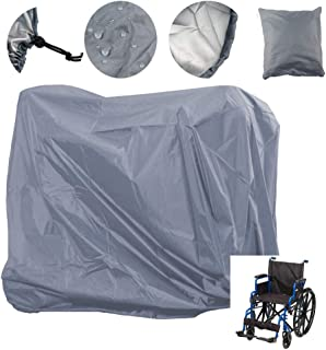 Wheelchair Cover, Mobility Scooter Storage Cover Oxford Fabric Waterproof Lightweight Rain Protector from Dust Dirt Snow Rain Sun Rays - 55 x 26 x 36 inch (L x W x H)