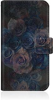 CaseMarket 【手帳型】 apple iPhone 6  (iPhone6) スリムケース ステッチモデル [ ゴシック ローズ ヴィンテージ ブラック - アーリー ストーン ボタニカル ] iPhone6-VCM2S2473