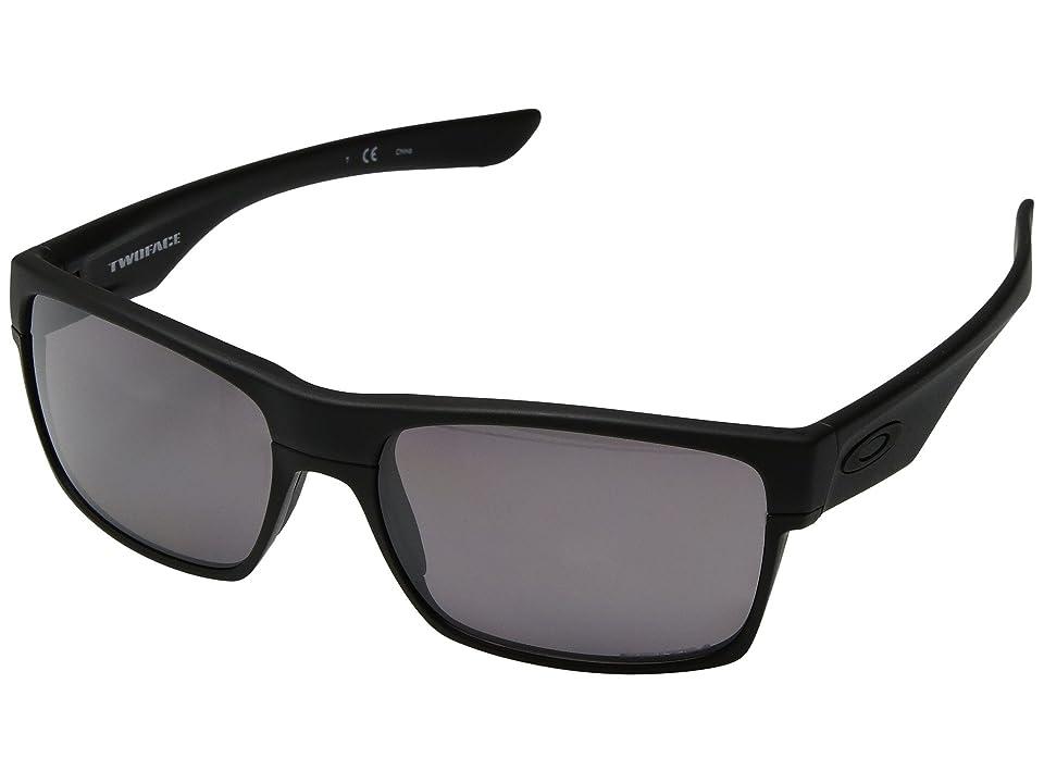 Oakley Two Face (Matte Black/Grey Polarized) Sport Sunglasses