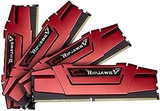 G.Skill Ripjaws V Series F4-2133C15Q-32GVR - Kit di Memoria DDR4, 2.133 MHz, C15, 1,2 V, Colore: Rosso
