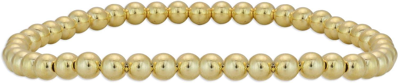 Anela 14kt Gold Filled Bracelet and 4mm Beads Stretch Stackabl Special sale item Popular standard