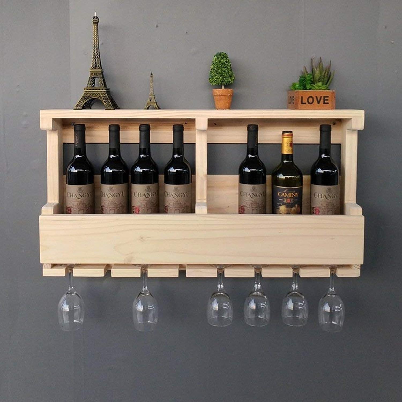 barato GFF Estante de Vino de de de Madera Maciza de Estilo Europeo Peaceip, estantes de Vino montaños en la Parojo, Juego de Vino Creative Restaurant Bar, 80  13  42 cm (Color  B)  marcas de diseñadores baratos