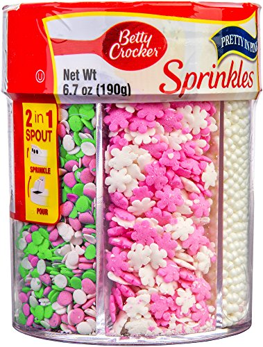 Betty Crocker 6-Cell Sprinkles Pretty in Pink, 6.7 Ounce (Pack of 1)