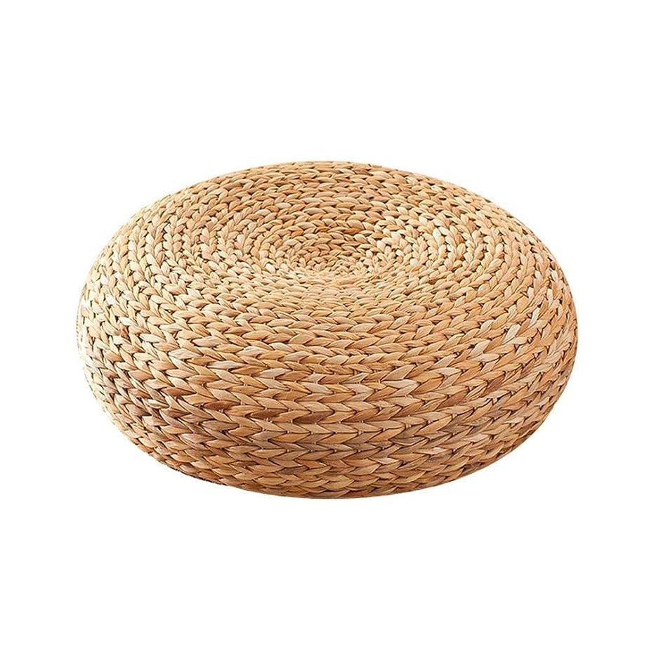 ようこそ船乗り逆さまにLicentury 蒲草座布団 円形 座禅 瞑想 用 座布団 坐禅用のふとん 手作り