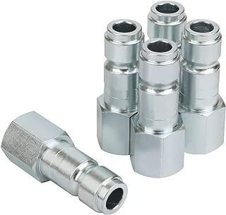 WYNNsky Industrial Interchange Air Fittings, Quick-Connect Plug, T Type, 3/8'' FNPT, 5-Piece Set
