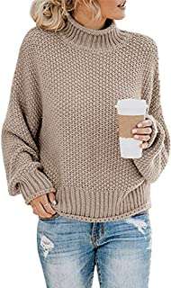 Rela Bota Turtleneck Sweater for Women - Casual Long Sleeve Knit Loose Oversize Pullover Sweater