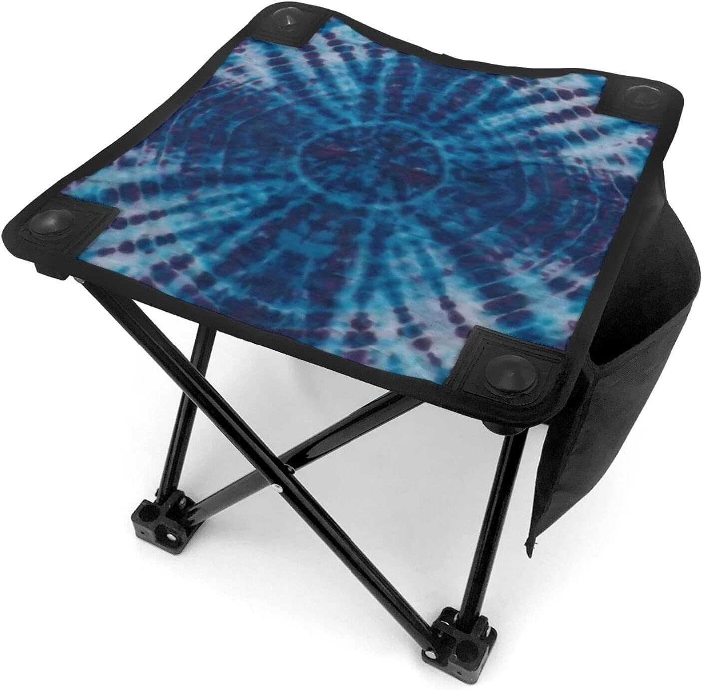 Blue Tie Dye half Small Lightweight Carry with Max 74% OFF Folding Stool Camping