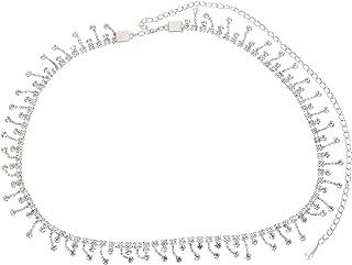 ARTIBETTER Rhinestone Waist Chain with Tassel Belt Crystal Waist Chains Summer Beach Waist Jewelry Belly Jewelry for Women...