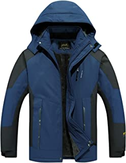 GAOXIAOMEI Snowboarding Jacket Men's Thickening Polyester Inner Warm Fleece Coat Insulated Multi-Pockets Hiking Working Sn...