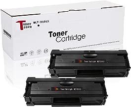TonerSave MLT D101S Toner Cartridge for Samsung SCX-3405W ML-2165 ML-2160 ML-2165W SCX-3405FW SCX-3400 SCX-3405 SCX-3401 ML-2160W ML-2161 ML-2166W ML-2168 ML-2168W ML-2167 SCX-3400F SCX-3400FW 2 Pack