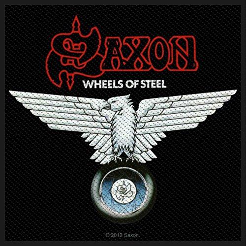 Saxon–Parche Wheels of Steel Patch 10x 9,5cm Heavy Metal