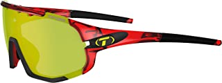 Tifosi Optics Sledge Sunglasses (Crystal Red, Clarion Yellow/AC Red/Clear)