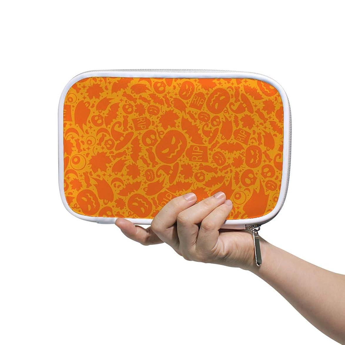 ゴミ箱違反する集めるZHIMI 化粧ポーチ メイクポーチ レディース コンパクト 柔らかい おしゃれ コスメケース 化粧品収納バッグ ハロウィン雰囲気 機能的 防水 軽量 小物入れ 出張 海外旅行グッズ パスポートケースとしても適用