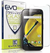 Evocel Moto E (2nd Gen) Glass Screen Protector [EvoGUARD] 0.33mm Tempered Glass Screen Protector for Moto E2 (2015 Release) [HD Clarity, Anti-Scratch, & Bubble Free]