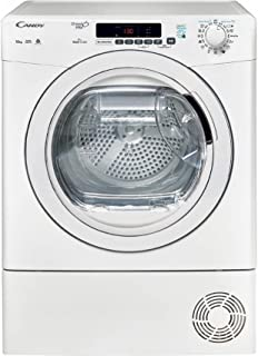 Candy GVSC10DE-S Tumble Dryer Front Loading with Chrome Door and Condenser System, White
