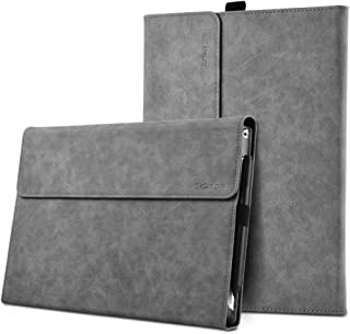 XISICIAO Protective case for Surface Pro 6 / Pro 5 / Pro 4 with Pen Holder, Multiple Angle Polyester Slim Light Shell Cover, Compatible with Type Cover Keyboard. (12.3