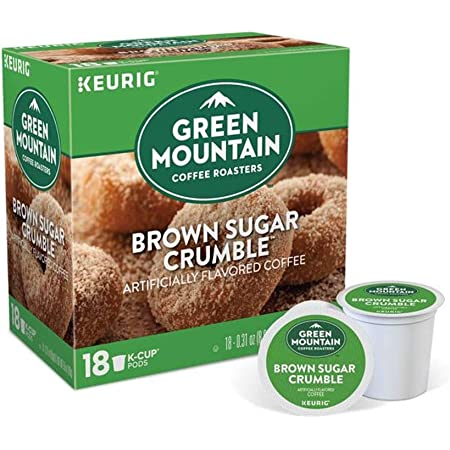 Keurig Coffee Pods K-Cups 16/18 / 22/24 Count Capsules ALL BRANDS/FLAVORS (18 Pods Green Mountain - Brown Sugar Crumble)