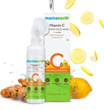 Mamaearth Vitamin C Face Wash with Foaming Silicone Cleanser Brush Powered by Vitamin C & Turmeric - 150ml