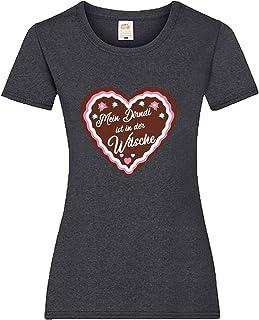 Shirt-Panda Oktoberfest T-Shirt für Damen mit Motiv -Mein Dirndl ist in der Wäsche- Frauen Tracht