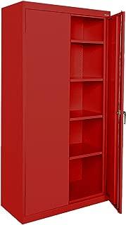 Sandusky Lee CA41361872-01, Welded Steel Classic Storage Cabinet, 4 Adjustable Shelves, Locking Swing-Out Doors, 72
