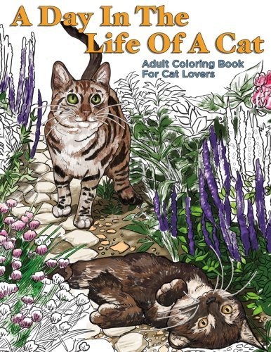 A Day In The Life Of A Cat: Adult Coloring Book