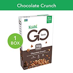 Kashi GO Chocolate Crunch Breakfast Cereal - Vegan   Non-GMO   12.2 Ounce (Pack of 1)