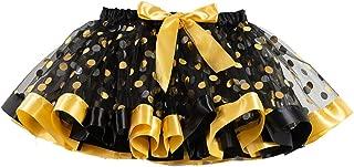 Hankyky Girls Summer Mesh Dot Pleated Sweet Print Skirt High Waist Skirt Short Skirt for Birthday Party Shower Gifts