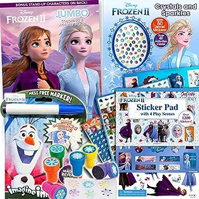 Disney Frozen 2 Coloring Book & Stickers Activity Deluxe Set