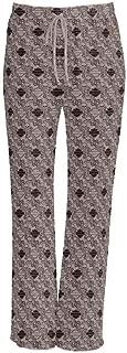 Women's Elegant Iron Allover Print Drawstring Lounge Pants, Tan