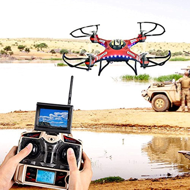 se descuenta Hanbaili Hanbaili Hanbaili RC Quadcopter Helicóptero Drone, JJRC-H8D 2.4Ghz Gyro FPV Monitor RTF RC Quadcopter Drone + 2.0MP Cámara US Plug  venta directa de fábrica
