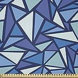 ABAKUHAUS Blau Microfaser Stoff als Meterware,