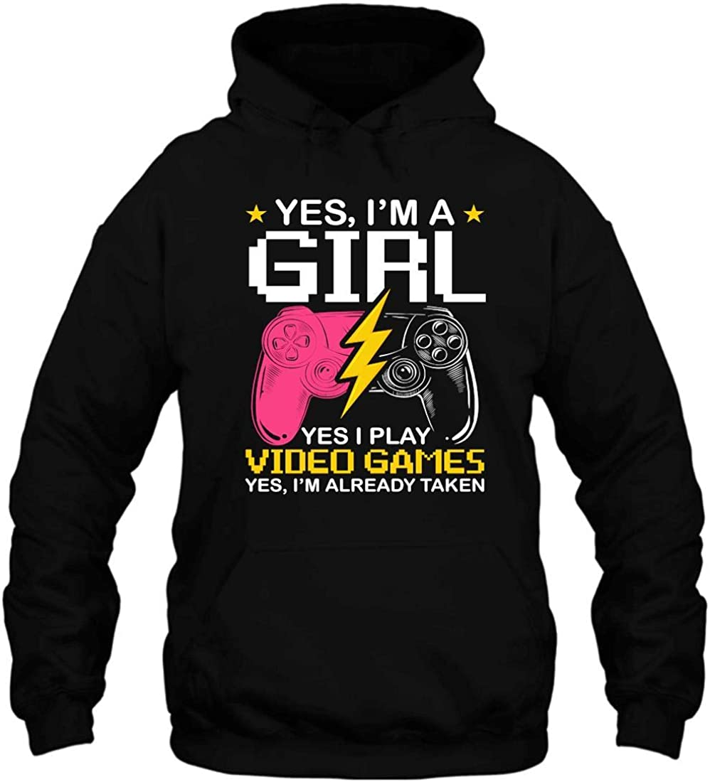 Gaming 365 Yes I'm A Gamer Video Blac Girl Hoodie Games cheap famous Pullover