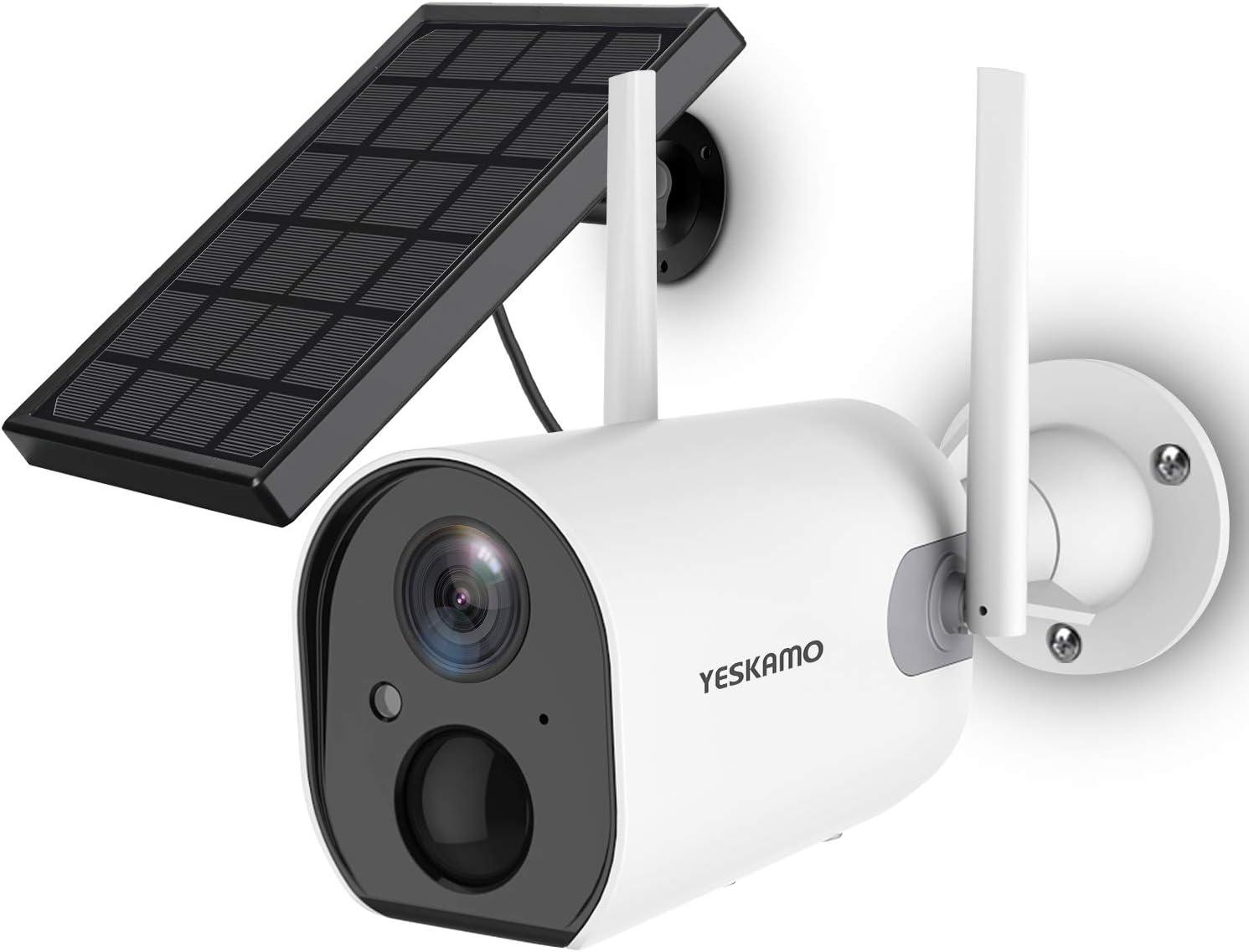 YESKAMO ソーラーパネル付き電池式防犯カメラ ZS-GX6S